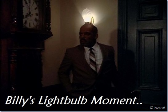 Billy's lightbulb moment..