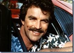 Tom Selleck Magnum moustache