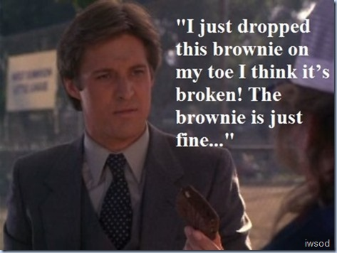 The brownie is just fine..